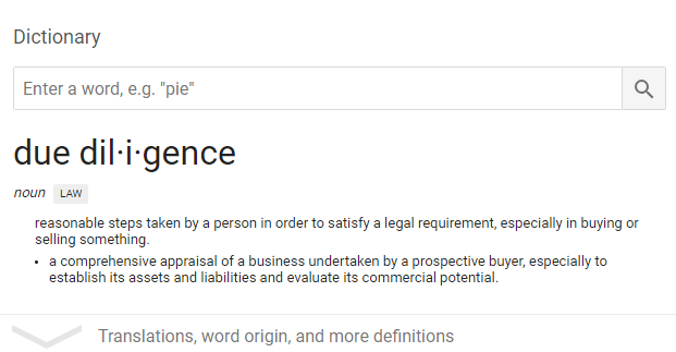 due_diligence